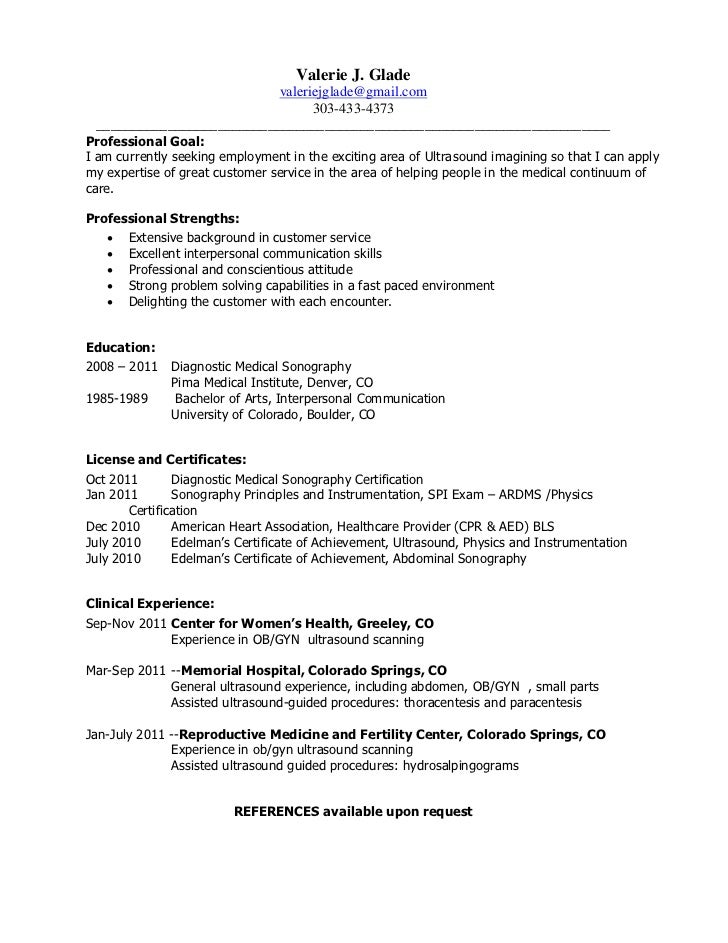 Diagnostic Cardiac Sonographer Resume Resume Samples