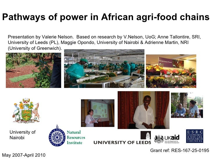 Valerie Nelson - Pathways of power in African agri-food chains