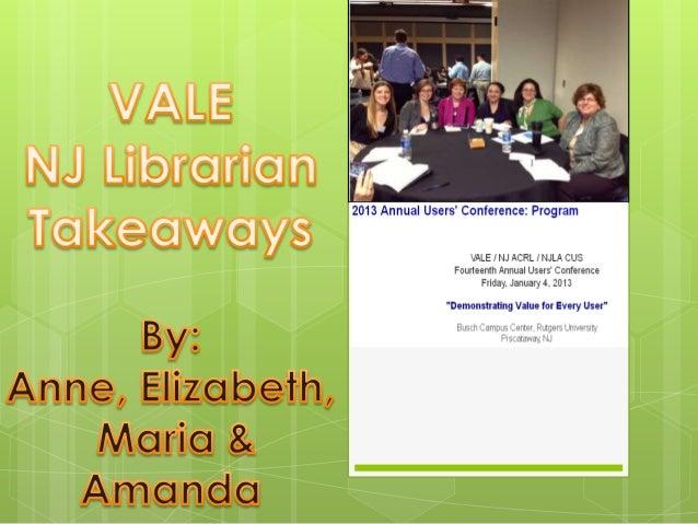 Vale takeaways