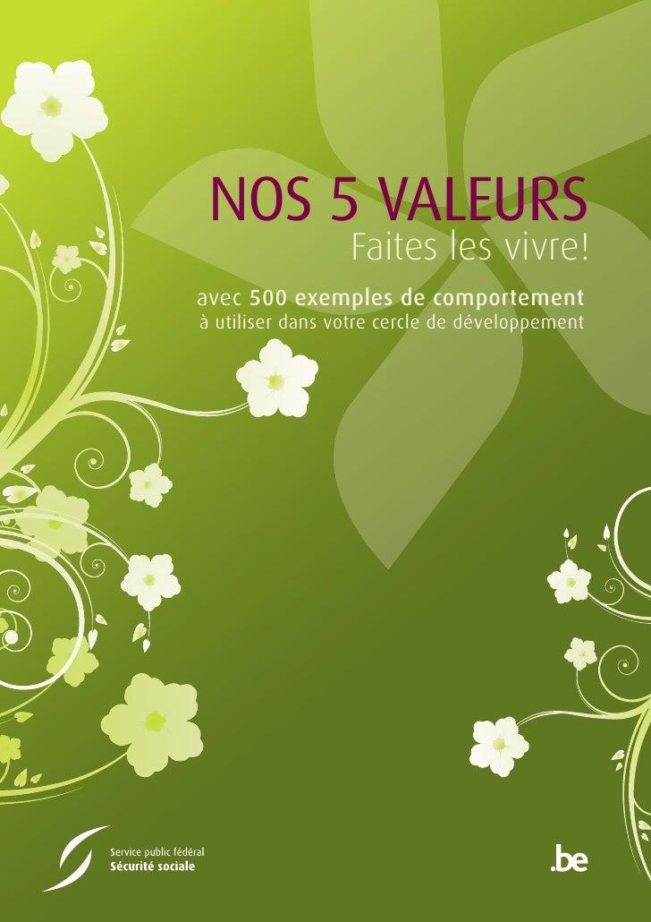 Les 5 valeurs du SPF Sécurité sociale