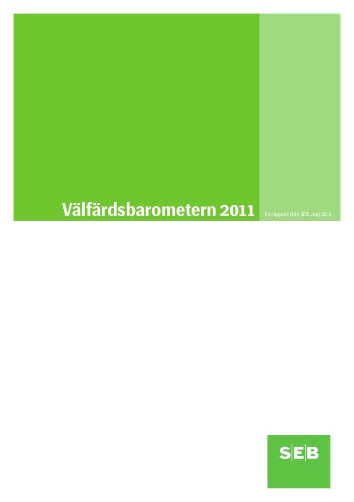 SEB:s Välfärdsbarometer jämför nordisk välfärd