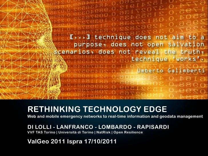 Rethinking Technology Edge - Valgeo 2011