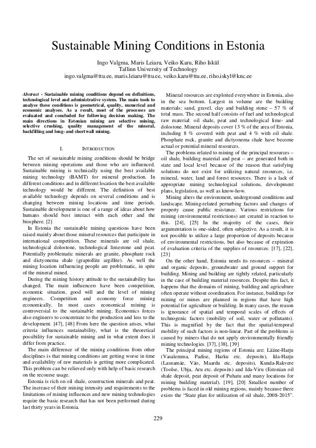 Valgma sustainable mining