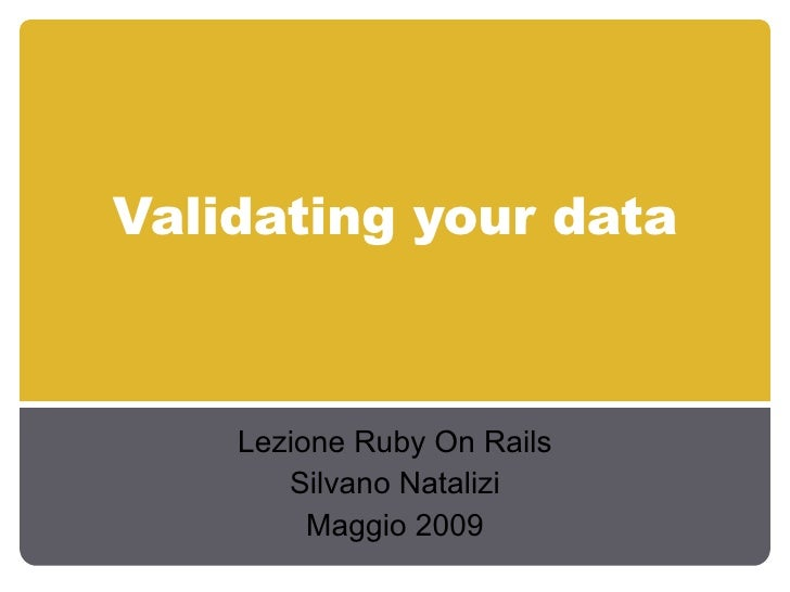 Validating Your Data