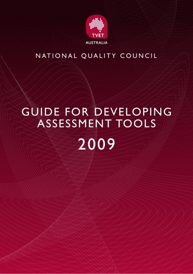 NQC | Guide for developin g assessment tools  Table of Contents  Table of Contents ..........................................