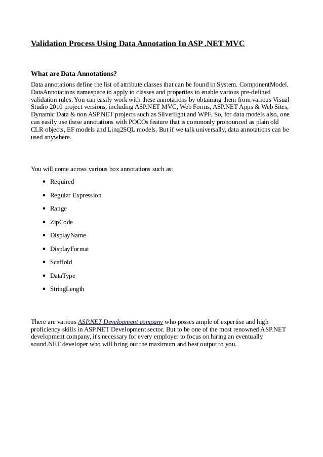 Annotation list
