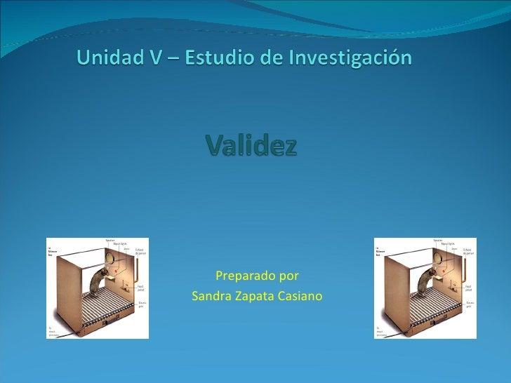 Preparado por Sandra Zapata Casiano