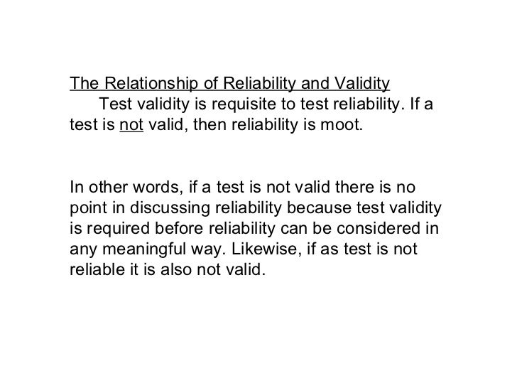 how to show reliabilty and validity of experiment
