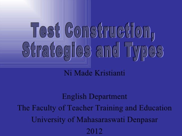 Validity & reability for teaching strategy