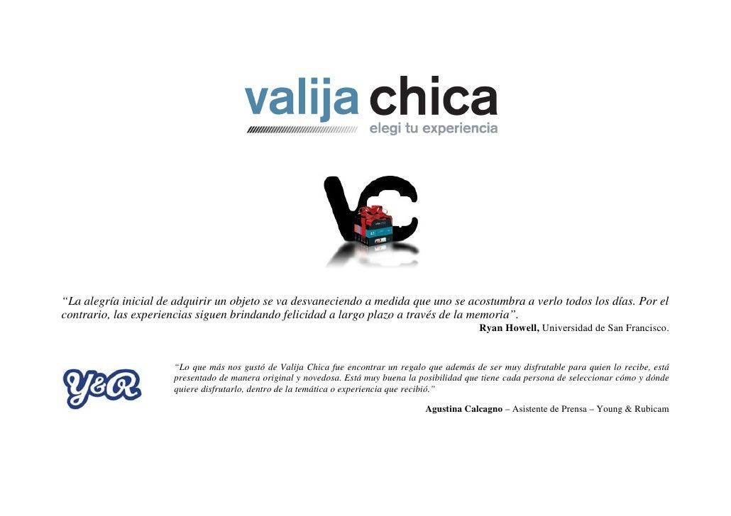 Valija Chica   Regalos De Experiencias
