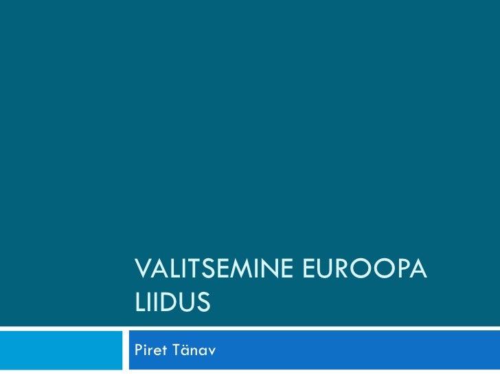 Valitsemine euroopa liidus