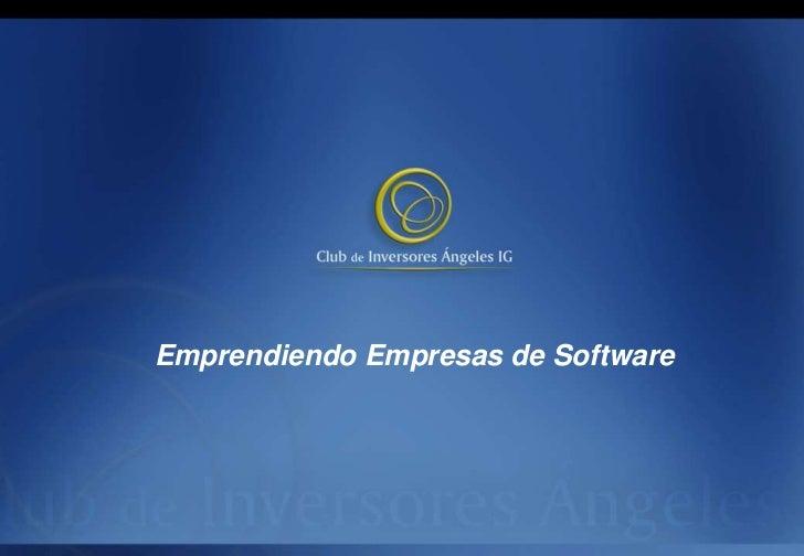 Emprendiendo Empresas de Software