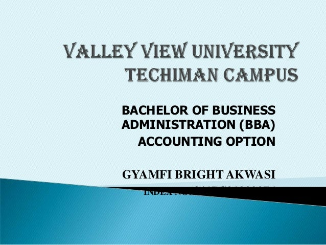 BACHELOR OF BUSINESS ADMINISTRATION (BBA) ACCOUNTING OPTION GYAMFI BRIGHT AKWASI INDEX NO: 211BS01000076