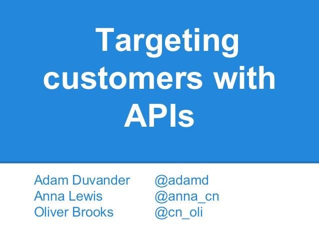 ValoBox - Targeting Customers with APIs