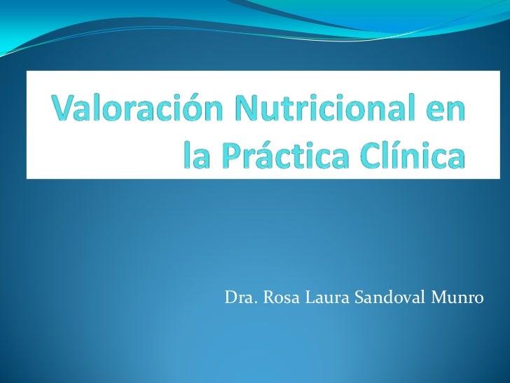 Dra. Rosa Laura Sandoval Munro