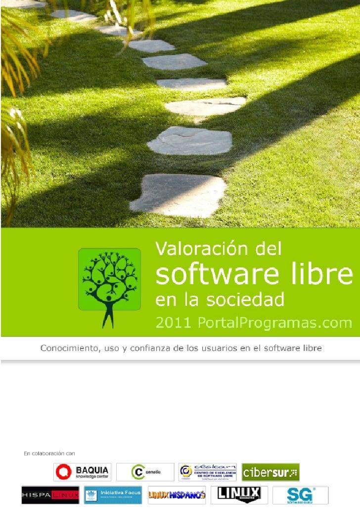 Valoración del software libre en la sociedad (2011)