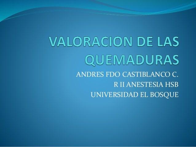 ANDRES FDO CASTIBLANCO C. R II ANESTESIA HSB UNIVERSIDAD EL BOSQUE