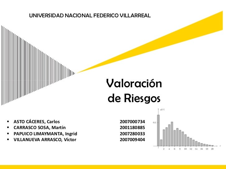 UNIVERSIDAD NACIONAL FEDERICO VILLARREAL<br />Valoración <br />de Riesgos<br /><ul><li>ASTO CÁCERES, Carlos2007000734
