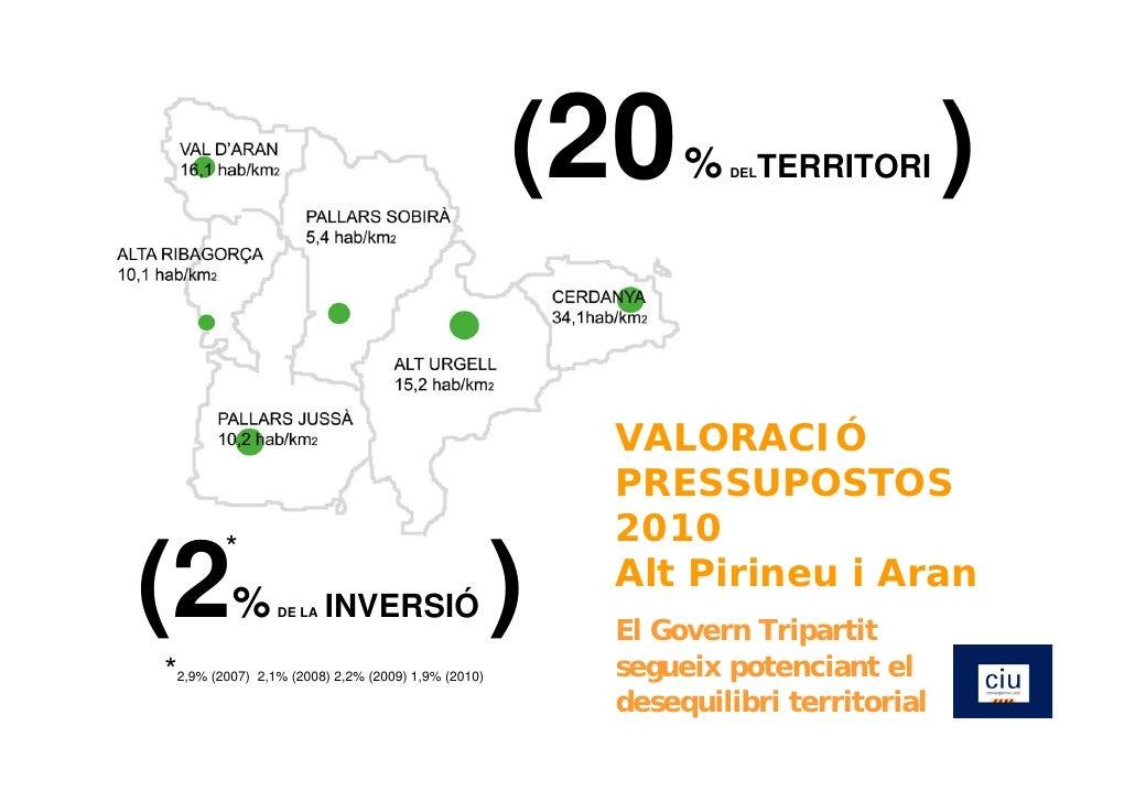 Valoració Pressupostos 2010
