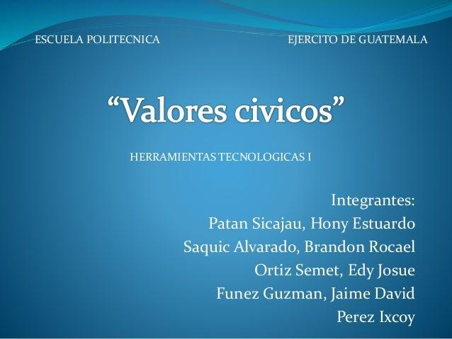 Integrantes: Patan Sicajau, Hony Estuardo Saquic Alvarado, Brandon Rocael Ortiz Semet, Edy Josue Funez Guzman, Jaime David...