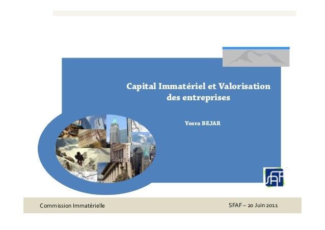 Capital Immatériel et Valorisation                                    des entreprises                                     ...
