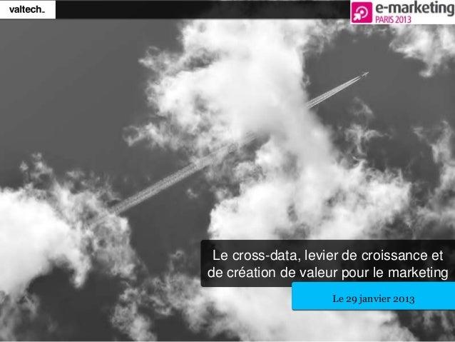 Le cross-data, levier de croissance etde création de valeur pour le marketingLe 29 janvier 2013