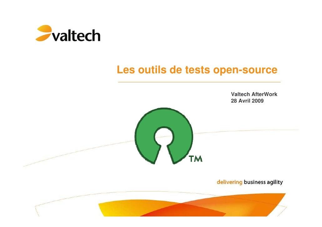 Outils de tests open-source