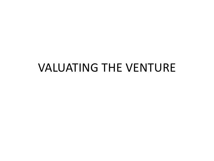 Valuating the venture
