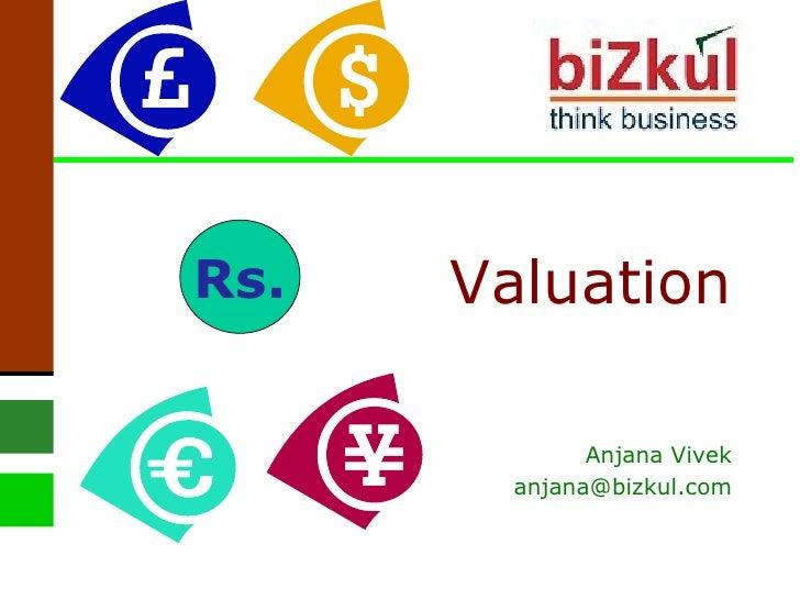 Valuation Anjana Vivek [email_address] Rs.