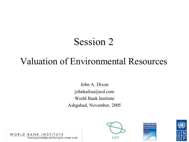 Valuation of Environmental Resources
