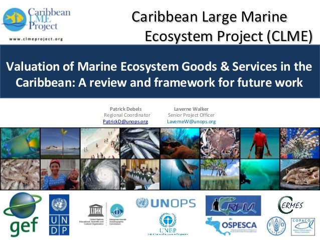 Caribbean Large Marine Ecosystem Project (CLME) Valuation of Marine Ecosystem Goods & Services in the Caribbean: A review ...