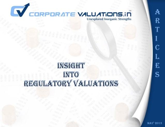 Business Valuation Article: Regulatory Valuation
