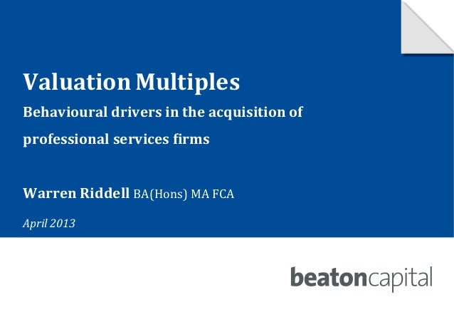 valuation multiples Quarterly valuation multiples report if there is something that you would like to see that is not currently listed in the resource center.