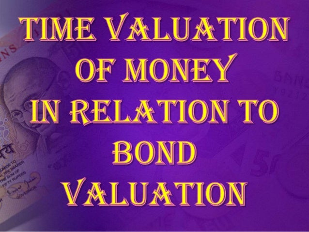 • The time value of money is the value of money  figuring in a given amount of interest earned  over a given amount of tim...