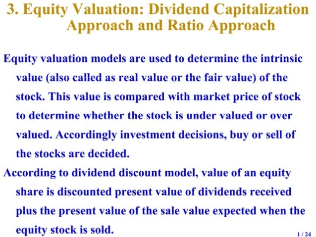 Valuation of securities   2