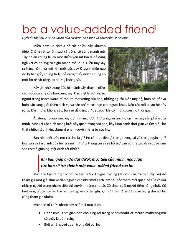 be a value-added friend