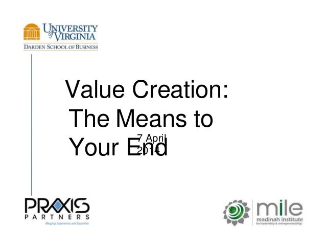 Value and Value Creation