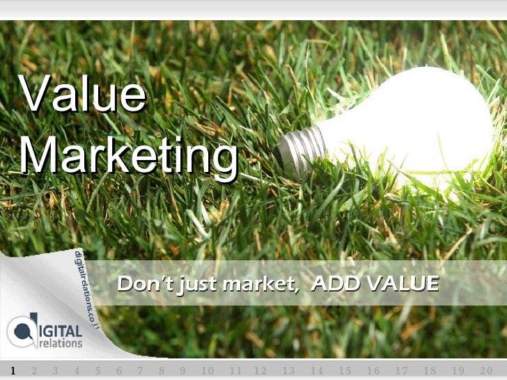1  2  3  4  5  6  7  8  9  10  11  12  13  14  15  16  17  18  19  20  Value Marketing
