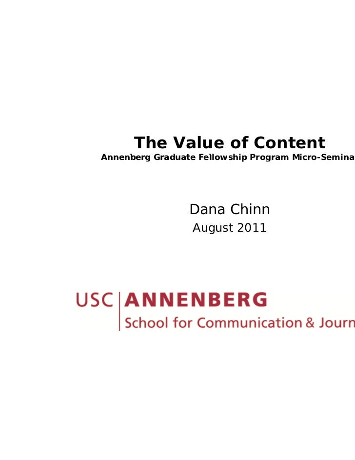 The Value of Content