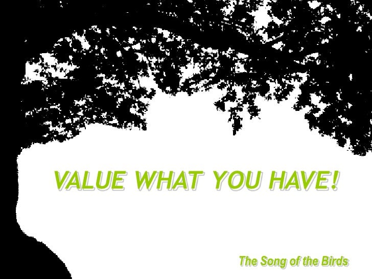 Value what-you-have