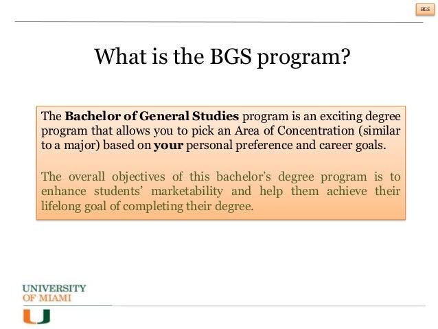 Bachelors of University Studies degree?