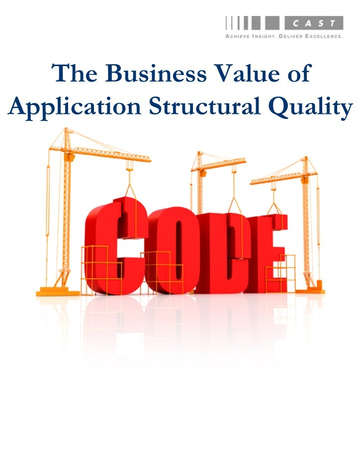 Business Value of App Structural Quality