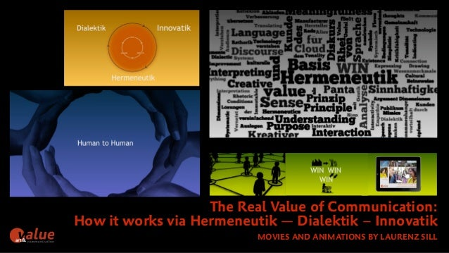 The Real Value of Communication:  How it works via Hermeneutik — Dialektik – Innovatik  art& MOVIES AND ANIMATIONS BY LAUR...