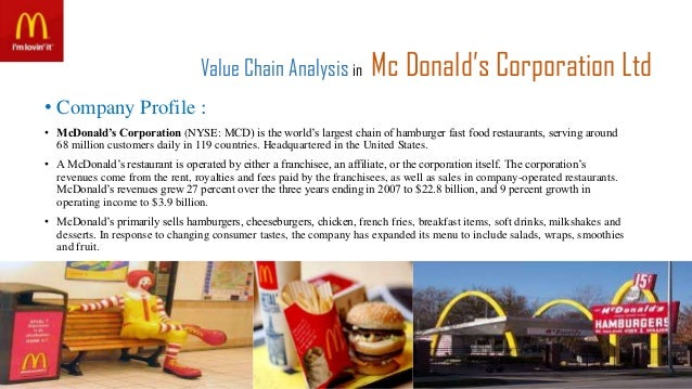 value chain analysis of fast food Value added in food manufacturing and retailing: a ratio analysis of major us states dr victoria salin, juan a atkins, and omar salame.