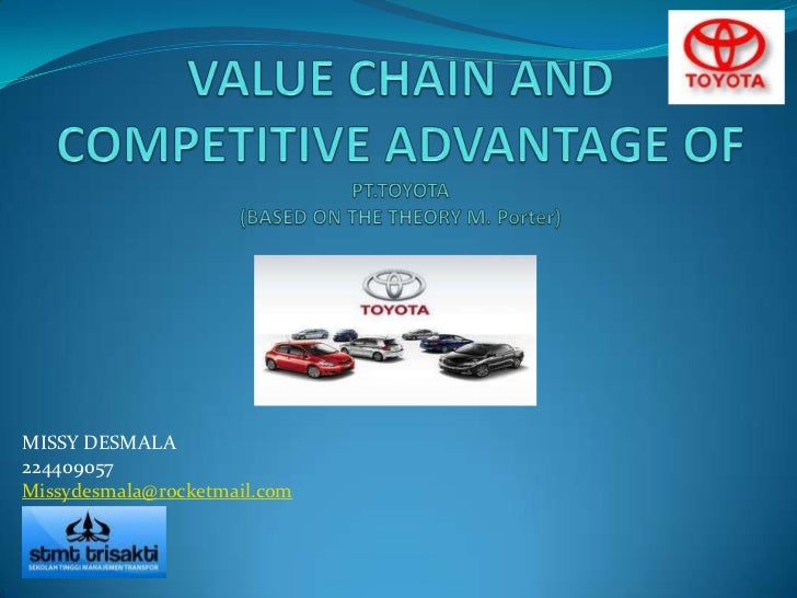Value chain and competitive advantage of pt toyota ppt (task)