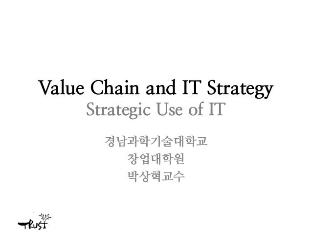 Value chain and IT strategy