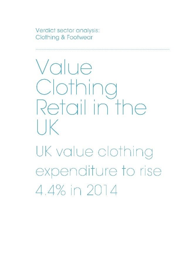 Value Clothing Retail in the UK sample pages