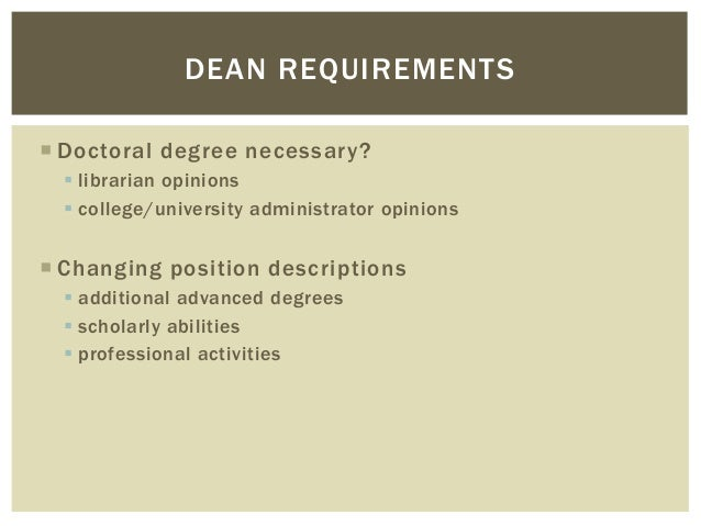 Doctorate degree requirements