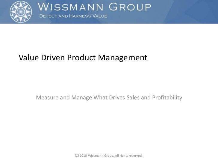 Value Driven Product Management