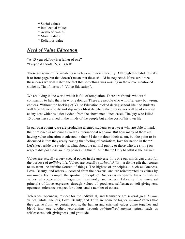 moral education essay moral education